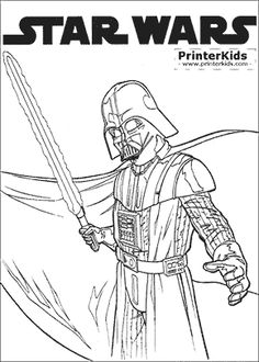 118 Best Star Wars Coloring pages images | Star wars party ...