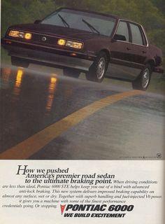 1987 Pontiac 6000 STE Sedan