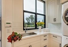 Laundry room sink, laundry room faucet, laundry room window, laundry room countertop. #laundryroom #laundryroomsink…