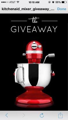 KitchenAid mixer giveaway.!