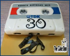 The CASSETTE MIX TAPE Cake  by THE CAKE DON