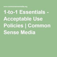 In order to encourage responsible use of internet, network, and technology devices, school districts can write an Acceptable Use Policy (AUP).  This article gives districts guidelines to follow when writing an AUP in order to ensure their students are respectful to others, use equipment responsibly, and are safe while online.