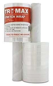 "Amazon.com : Tromax (2-PACK) Stretch Wrap 5"" X 1000 Feet. Strong 80 Gauge Film with Handle : Office Products"