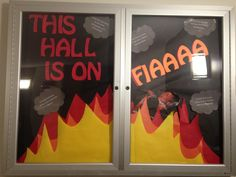 RA life. Fire safety. Bulletin board