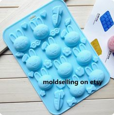 Silicone textured Mould ideal Soap cake sugarcraft candle melts ice cube jelly