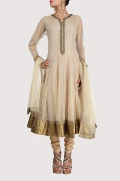 Golden suit with a flattering svelte silhouette. Shop Now: www.karmik.in/shopping/index.php
