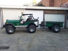 Jeep CJ5 1974 M413 trailer