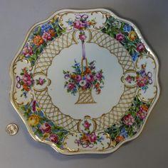Lenox & Dresden Cake Plates, Sterling Rimmed : Lot 49