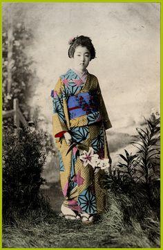 Foto geisha antigua