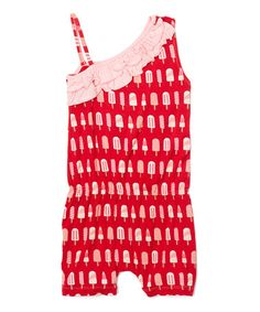 Another great find on #zulily! Balloon Popsicle Diagonal Romper - Infant