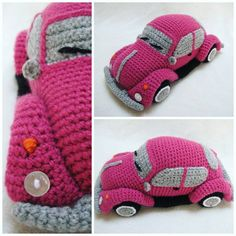 Crochet a VW Beetle Volkswagen Amigurumi – Such a Cute Bug! I always wanted one of these cars! Crochet a VW Beetle Volkswagen Amigurumi – Such a Cute Bug! I always wanted one of these cars! Crochet Video, Crochet Gratis, Crochet Patterns Amigurumi, Knit Or Crochet, Cute Crochet, Crochet Dolls, Crochet For Kids, Knitting Patterns, Crochet Baby Mobiles
