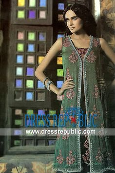 Dark Sage Ventura, Product code: DR1765, by www.dressrepublic.com - Keywords: Indian Pakistani Dresses Calexico, Ceres, Chatsworth, California - Party Dresses California, USA