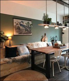 Esszimmer, Esstische und Esszimmer dekor, Esszimmer Sessel Dining room, dining tables and dining room decor, dining chair Interior Design Living Room, Living Room Designs, Living Room Decor, Interior Shop, Interior Ideas, Wooden Decor, Wooden Lamp, Home And Living, Sweet Home