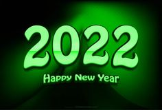Free Green New Year Background 2022 Graphic