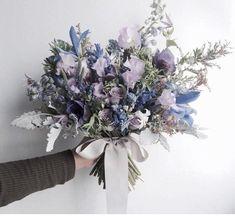 Passing happy wedding bouquet