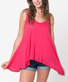 Look at this Caralase Fuchsia Swing Tank - Women on #zulily today!