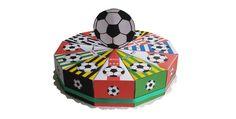 Traktatie taartpunten voetbal eredivisie, Nederlands elftal en voetbal geschenkverpakkingen