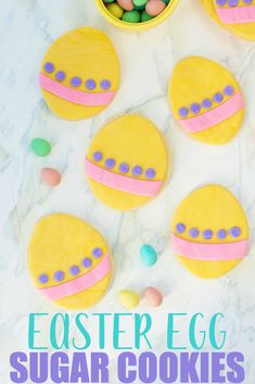 Grab the kids and head into the kitchen to whip up these deliciously cute Easter Egg Sugar Cookies. #Easter #SugarCookie #Recipe Easter Bunny Cupcakes, Easter Treats, Easter Food, Making Easter Eggs, Sugar Cookies Recipe, Cookie Recipes, Dessert Recipes, Homemade Wine, Bunny Crafts