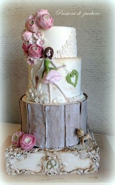 Rustic Girl Cake Shared by Career Path Design Beautiful Wedding Cakes, Gorgeous Cakes, Pretty Cakes, Amazing Cakes, Fondant Cakes, Cupcake Cakes, Fiesta Cake, Painted Cakes, Just Cakes