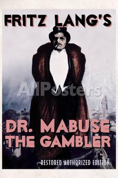 Dr Mabuse the Gambler Movie Fritz Lang Poster Print Movies Poster - 61 x 91 cm
