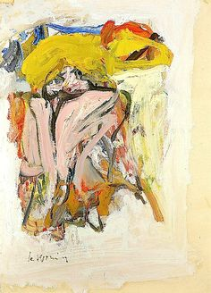 Willem de Kooning (Dutch American 1904–1997) [Abstract Expressionism]  SNAKE CHARMER