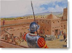 Spanish Fort Greeting Card by Cliff Spohn Conquistador, Conquest Of Paradise, Lead Adventure, Portugal, Spanish Fort, The Golden Years, Forts, World History, 16th Century