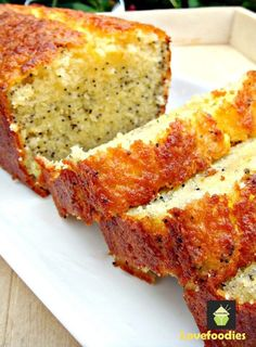 Lemon and Poppy Seed Loaf! This is truly a delightful cake. The flavours are gentle, the cake is soft and moist and of course looks so pretty with the addition of poppy seeds sprinkled throughout the cake.