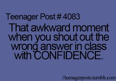 Then you do not answer another teacher's question for the rest of the day :0