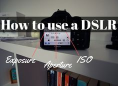 How to use a DSLR, how to use a camera