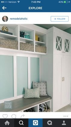 love this idea for back porch/mudroom - snapped off Instagram