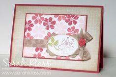Beautiful card by Sarah Klass using SAB set Bloomin' Marvelous.