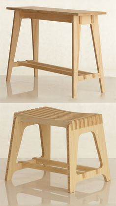 Could be made as knock-down furniture...template routed...no cnc required...minimal waste. Perfect for in/out furniture in the Tiny Home.