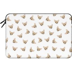 Macbook Sleeve - CHIHUAHUAS ($60) ❤ liked on Polyvore featuring accessories, tech accessories and macbook sleeve