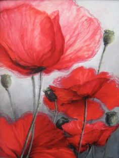 "Saatchi Art Artist Krystyna Urbanellis; Painting, ""Poppies"" #art"