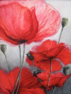 "Saatchi Art Artist Krystyna Urbanellis; Painting, ""Poppies"" #art"