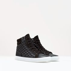 ZARA quilted trainers via @stylelist | http://aol.it/1sV2JMg