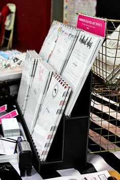 DIY craft fair risers are made out of black foam core for displaying product. By Wicked Press/Wicked Bride Vendor Displays, Craft Booth Displays, Display Ideas, Booth Ideas, Craft Stalls, Craft Show Ideas, Custom Stationery, Diy Crafts To Sell, Craft Fairs