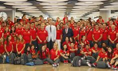 Spain's King Felipe and Queen Letizia wave off Spain's Olympic team. Not yet known whether TMs will attend games