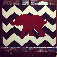Alabama Chevron / Roll Tide / Bama  11x14 on by PeaceLoveNCanvas, $25.00