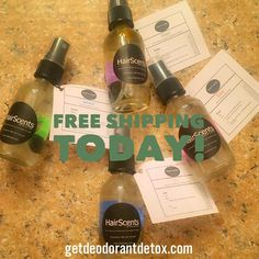 "We are collaborating with our Deodorant Detox brand to give free shipping on our Hair Scents. Go ahead and give your hair a gift that smells good too. You will love our 4 new scents. ""Peace"" ""Love"" ""Joy"" and ""Hope"".... Use the code ""freeshipdetox"" and get free shipping on orders of the Hair Scents and other Deodorant Detox products. Go to getdeodorantdetox.com and get the FUNK outta here. #nubian #melanin#blackhistorymonth…"