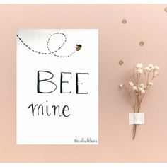 Excited to share the latest addition to my #etsy shop: BEE mine watercolor Valentine's Day card http://etsy.me/2CJyEpZ #papergoods #white #anniversary #yellow #watercolor #handmadecard #valentinesday #valentines #lovecard