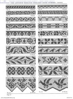 If you looking for a great border for either your crochet or knitting project, check this interesting pattern out. When you see the tutorial you will see that you will use both the knitting needle and crochet hook to work on the the wavy border. Fair Isle Knitting Patterns, Knitting Charts, Loom Patterns, Knitting Stitches, Cross Stitch Borders, Crochet Borders, Crochet Chart, Cross Stitch Patterns, Filet Crochet