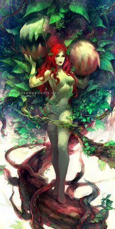 Comic Book Girl, Comic Books, Dc Poison Ivy, Women Villains, Batman Universe, Dc Universe, Cute Art Styles, Gotham City, Girl Cartoon