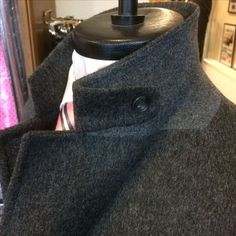 Hot off the press this afternoon is this grey wool topcoat with slanted welt side pockets & tab storm collar. Bespoke Tailoring, Top Coat, Mens Fashion, Wool, Pockets, Grey, Austria, Clothes, Gentleman