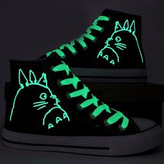 e0e216e114 Fashion Glow in the Dark My Neighbor Totoro Shoes by CrazyPoem