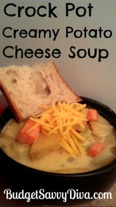 Your family will love this recipe :) Crock Pot Potatoes, Crock Pot Soup, Crockpot Dishes, Crock Pot Slow Cooker, Crock Pot Cooking, Crockpot Recipes, Cooking Recipes, Crockpot Lunch, Cooking Tips