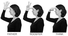 Example of RHYMING in SIGN LANGUAGE (ASL) - the one phoneme difference here is the handshape vs 3 vs but all other parameters are identical: location, movement, palm orientation. Sign Language Phrases, Sign Language Alphabet, Learn Sign Language, Learning A Second Language, Learning Asl, Language Lessons, Teaching, Deaf Sign, Asl Signs