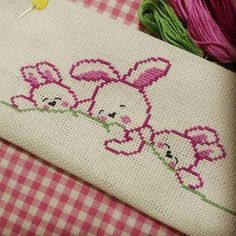 Linda Paul's media content and analytics Baby Knitting Patterns, Baby Cross Stitch Patterns, Cross Stitch Borders, Hand Embroidery Patterns, Cross Stitch Designs, Cross Stitching, Cross Stitch Embroidery, Cross Stitch Bookmarks, Cute Cross Stitch