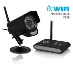 Security Man DigiAir-SD Digital Wireless Camera System Kit PIR motion, 2-way Audio, Night Vision,SD Digital Video Rec