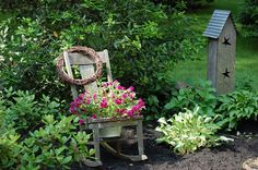 The flea market gardening with chair